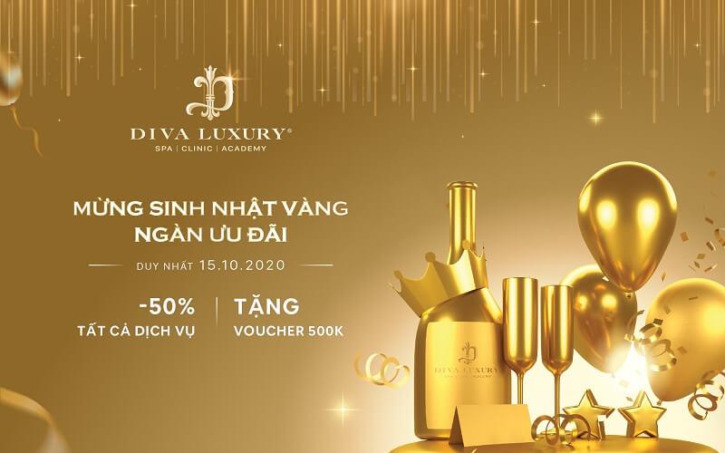 Mừng sinh nhật vàng nhận ngàn ưu đãi tại Viện thẩm mỹ DIVA